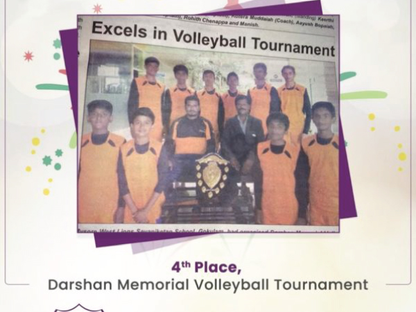 Congratulations 4th Place, Darshan Memorial Volleyball Tournament